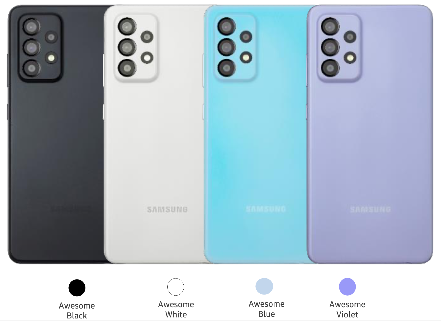 Samsung A52 Enterprise Edition kleuren